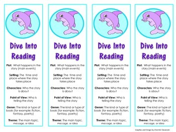 Bookmarks (Cute Dolphin Theme)