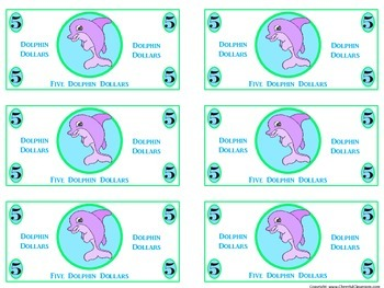 Classroom Money (Dolphin Dollars Rewards, Classroom Management, and Currency)