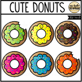 Cute Donuts (Clip Art for Personal & Commercial Use)