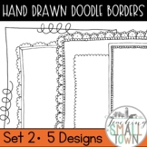 18 Doodle Border Frames // Mini Set #2 //  Personal and Commercial Use