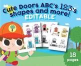 Cute Door Alphabet, Numbers 1-20, Shapes, Dino Game, Preschool, Kindergarten Cla