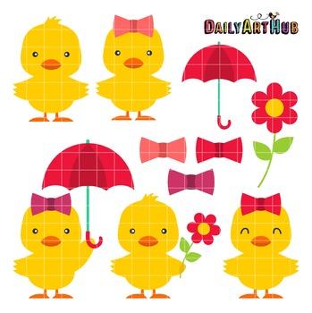 Cute Ducks Clip Art - Great for Art Class Projects!