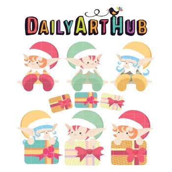 Cute Dwarfs Clip Art - Great for Art Class Projects!