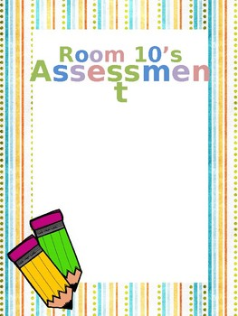Cute & EDITABLE Assessment File Cover Page