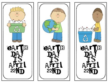 Cute Earth Day Bookmarks