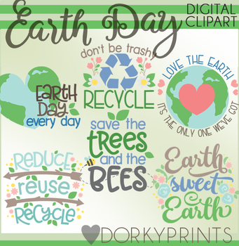 cute earth day clipart by dorky doodles teachers pay teachers rh teacherspayteachers com earth day 2015 clipart earth day clipart black and white