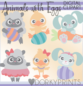Cute Easter Animals Clipart