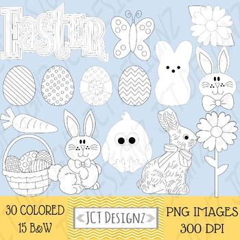 Cute Easter Clipart, easter clip art, easter egg clipart, spring clipart,