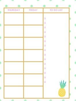 Cute & Easy Print & Go 2017-2018 Teacher Planner