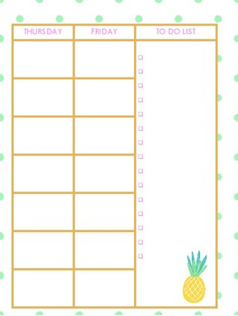 *SALE* Cute & Easy Print & Go 2017-2018 Teacher Planner