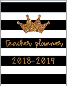 Cute & Easy Print & Go 2017-2018 Teacher Planner