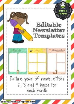 Cute Editable Newsletter Templates