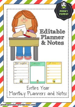 Cute Editable Planners and Notes Templates
