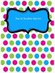 Cute Editable Polka Dot Binder Covers