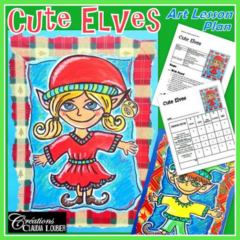 Christmas Art Activity and Lesson Plan for Kids: Cute Elves for Christmas
