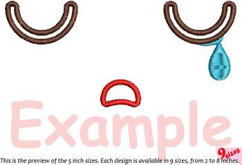 Cute Emoji Embroidery Design emoticons outline Kawaii Expression outline 188b