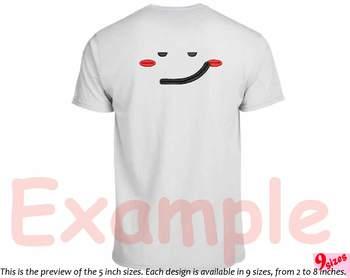 Cute Emoji Embroidery Design emoticons smile Kawaii funy Expression faces 182b