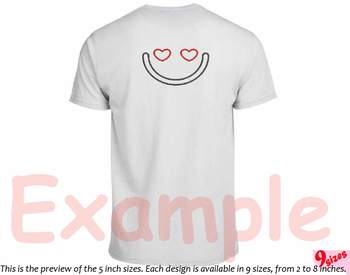 Cute Emoji Embroidery Design emoticons smile Kawaii funy Expression faces 185b