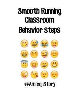 Cute Emoji Mini-Posters Smooth Running Classroom Steps