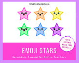 Cute Kawaii Emoji Stars - Online ESL Reward System - VIPKid, Gogokid, Magic Ears