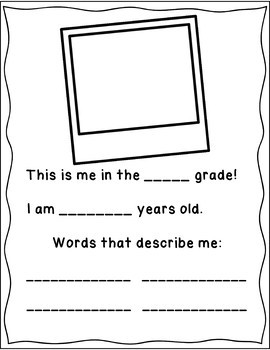 Cute End of Year Yearbook for K -3 - black/white  easy printing and coloring