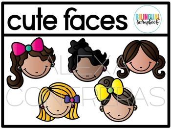 Cute Faces (Kids Clip Art)