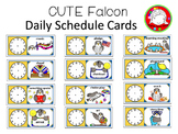 Cute Falcon Schedule Cards and Clipart (Personal & Commercial Use)