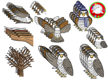 Cute Falcon with Seasonal Accessories Clipart (Personal & Commercial Use)