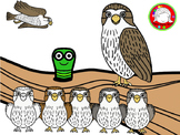 Cute Falcon with Seasonal Accessories Clipart (Personal &