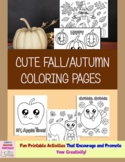 Cute Fall/Autumn Coloring Pages - Set of 7