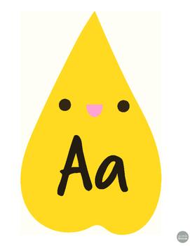 Cute Fall Leaves Alphabet Printouts