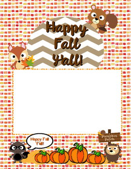 Cute Fall Paper