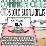 Grade 1 ELA Common Core Standards Checklist for First Grade