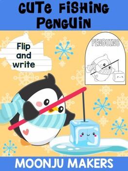 Cute Fishing Penguin - MOONJU MAKERS - Flip and Write