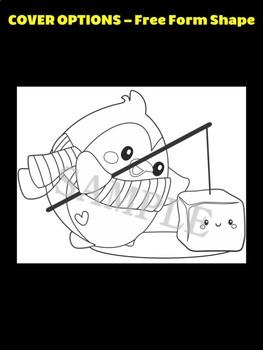 Cute Fishing Penguin- Moonju Makers Activity, Craft, Writing, Winter, penguins