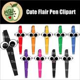 Cute Flair Pens Clipart