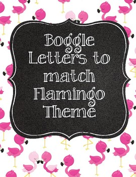 Cute Flamingo Boggle Letters