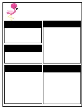 Cute Flamingo Editable Teacher Newsletter Template