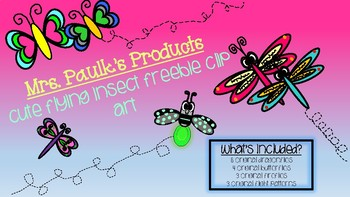 FREE Flying Insect Clip Art Bundle
