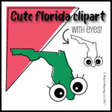 Cute Florida Clipart with Eyes!