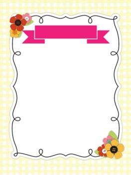 Cute Flower Frame/Border