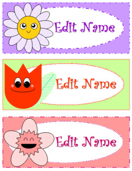 Cute Flower Labels and Name Plates