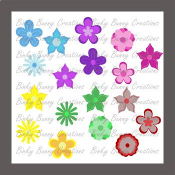Flowers Clip Art BUNDLE 60 Images Spring Summer
