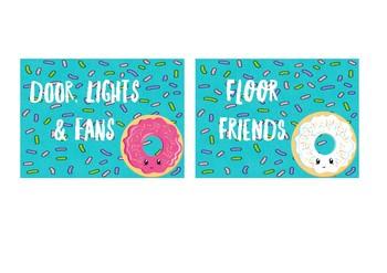 Cute Food Themed Job Chart