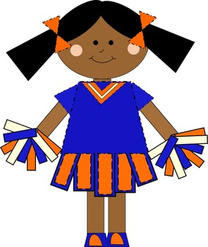 Cute Football/Cheer Theme Clip Art