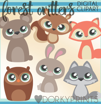 Cute Forest Animal Clipart