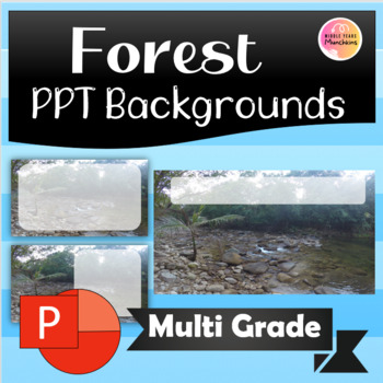 Cute Forest/Lake Theme PPT backgrounds