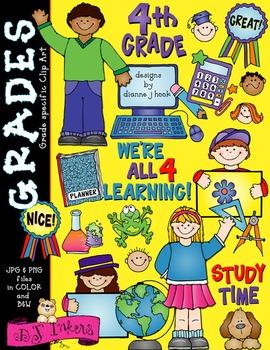 Cute Fourth Grade Clip Art Download