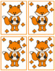Cute Fox 0-10 Counting Flash Cards; Kindergarten; Preschool; Homeschool; Math