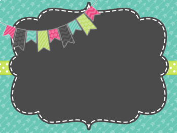 Cute Frames PowerPoint Backgrounds II- HUGE! *EDITABLE!*